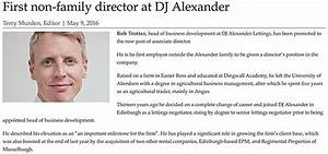 First non-family director at DJ Alexander - May 2016 - DJ ...