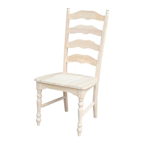 unfinished ladder back chairs with seats international concepts maine unfinished wood ladder back