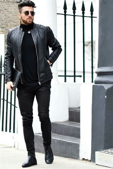 All Black Outfits For Men Black on Black Outfit Inspiration | Menu0026#39;s fashion Black and Fashion