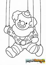 Coloring Puppet Colouring Template Clown Popular sketch template