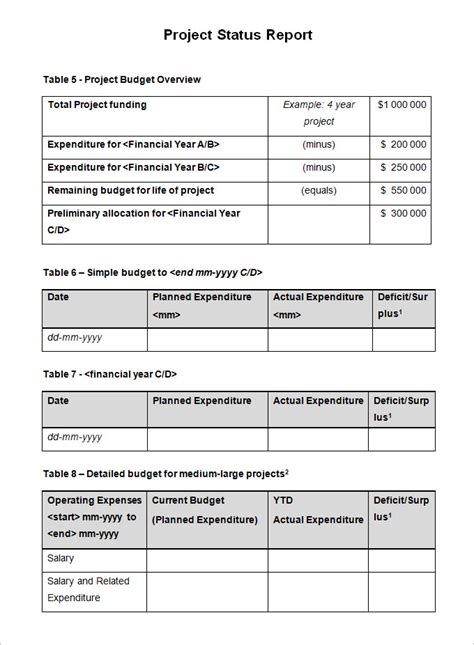 project status report examples  examples