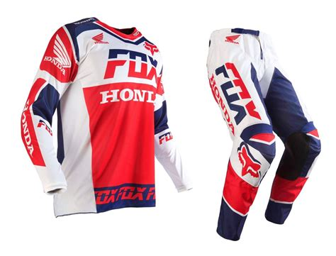 fox motocross gear fox racing new 2016 mx 180 honda usa white red blue