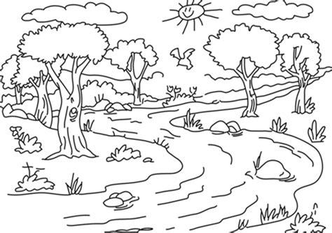 √Kumpulan Gambar Mewarnai Pemandangan Sungai Anak TK PAUD