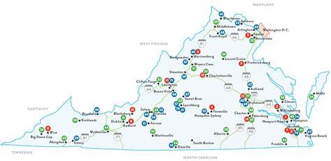Colleges In Virginia Map | afputra.com