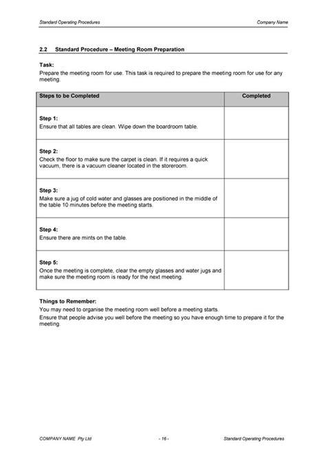 Standard Operating Procedure Template | Download | Digital