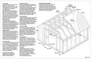 ulisa 10 x 12 gambrel shed plans popular mechanics