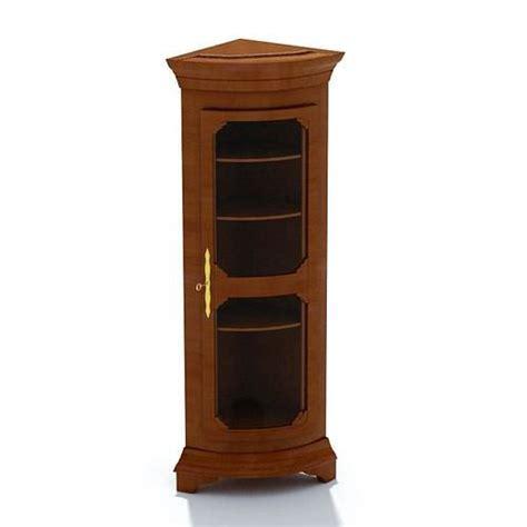8 door corner cabinet furniture wooden corner cabinet with gla 3d model