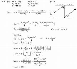Geschossgeschwindigkeit Berechnen : patrick 39 s physikseite physikaufgaben mit l sungen physik ~ Themetempest.com Abrechnung