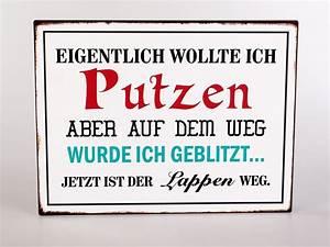 Vintage Schilder Mit Sprüchen : deko metallschild mit spruch 35x26cm putzen blechschild vintage look ebay ~ A.2002-acura-tl-radio.info Haus und Dekorationen