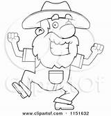 Prospector Clipart Happy Dancing Angry Coloring Cartoon Pickaxe Holding Illustration Cory Thoman Rf Royalty sketch template