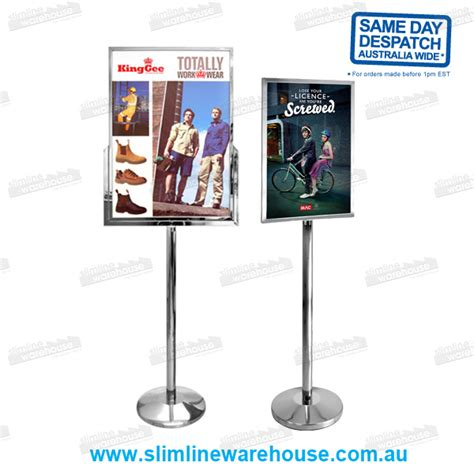 steel poster stand holders