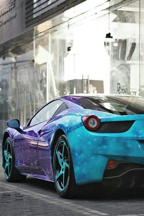 Ferrari With Cool Galaxy Paint Job Cool Vehicles
