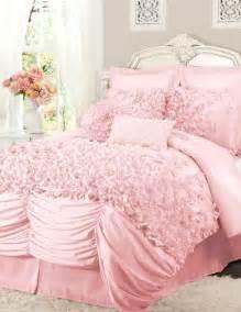 pink ruffled comforter set l o v e jerika girls pinterest