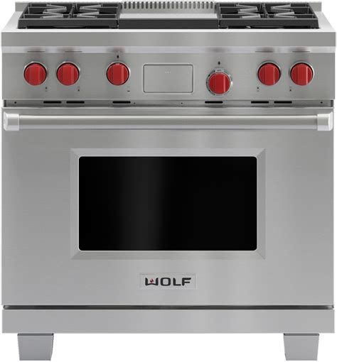 wolf dfg   pro style dual fuel range   dual stacked sealed burners  cu ft