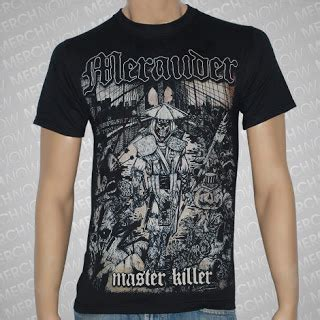 defend merch kaos band import kaos tshirt merauder master killer bridge