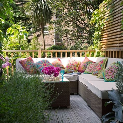 decking with seating area summer garden ideas