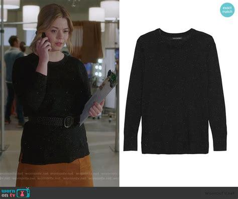 WornOnTV: Ali's metallic sweater and suede mini skirt on ...