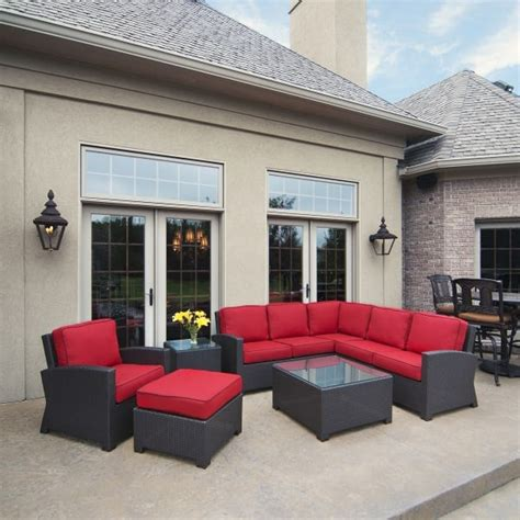 cabo wicker sectional set by cape international
