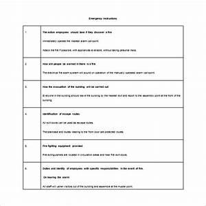 11 evacuation plan templates free sample example for Fire evacuation plan template for office