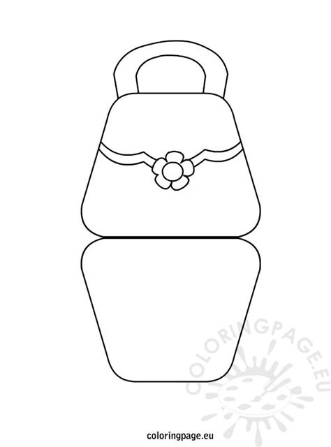 bag shaped mothers day card coloring page
