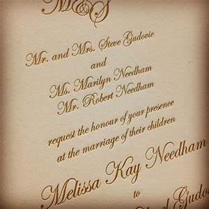 25 best ideas about wedding invitation wording on With wedding invitation wording both parents first names