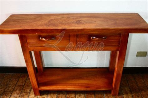 narra wood furniture console table  drawers leoque