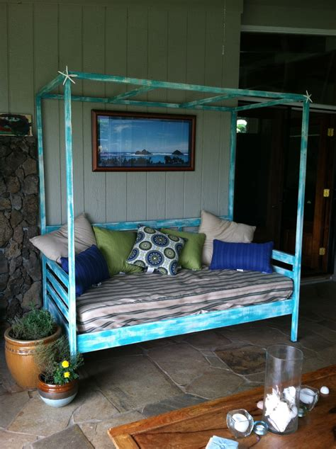 ana white outdoor day bed  canopy diy projects