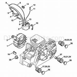 Stihl Ms 170 Chainsaw  Ms170z  Parts Diagram  Ignition System