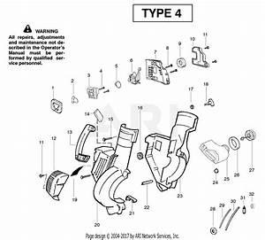 Poulan Wt200le Gas Blower Type 4 Parts Diagram For Housing Type 4