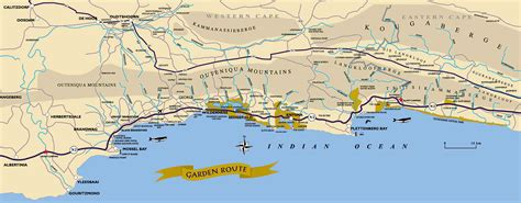 garden route south africa map