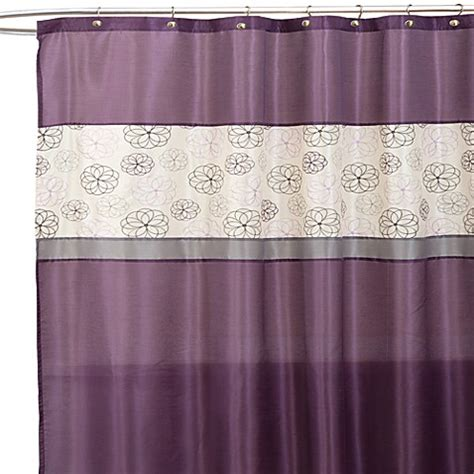 lavender shower curtain buy covina purple and ivory 72 inch x 72 inch shower