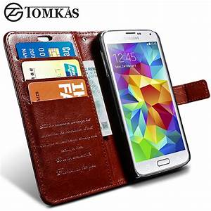 Tomkas S5 Luxury Wallet Case For Samsung Galaxy S5 I9600