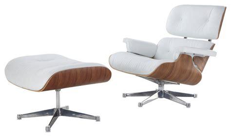 mid century modern lounge chair and ottoman white italian