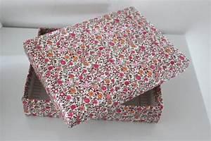 Boite En Carton À Décorer : boite en carton recouverte de tissu diy 2 diy d co boite en carton d corer boite en ~ Melissatoandfro.com Idées de Décoration