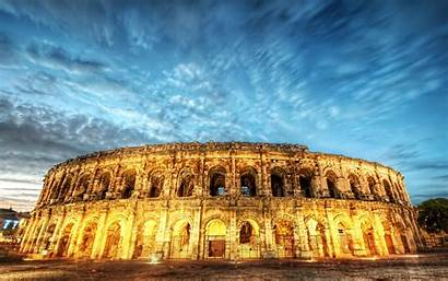 Rome Italy Colosseum Night Hdr Wallpapers Wallhere