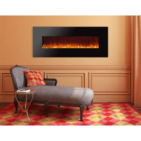 royal series electric wall mount fireplace  pebbles