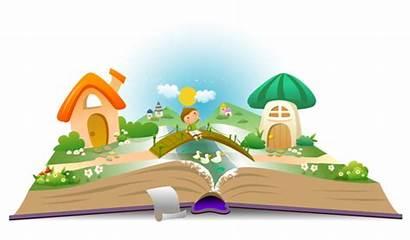 Open Fairy Reading Books Illustration Props Landscape