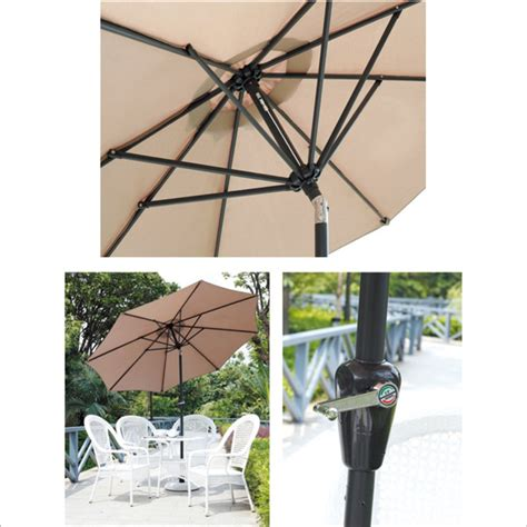 high quality aluminum cantilever outdoor umbrella for cafe
