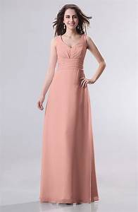 peach guest dress simple empire sleeveless zip up With peach dress for wedding guest