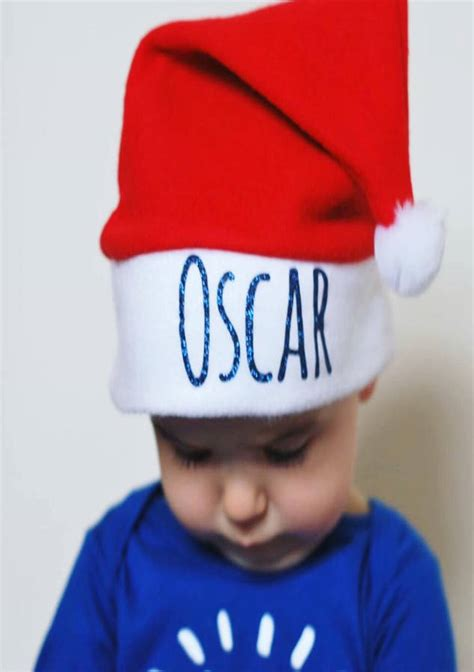 glitter personalised baby toddler santa hat by baby