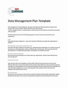 Data Management Policy Template Data Management Plan Template
