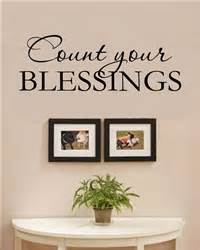 Count your blessings vinyl wall art decal sticker for Kitchen colors with white cabinets with count your blessings wall art