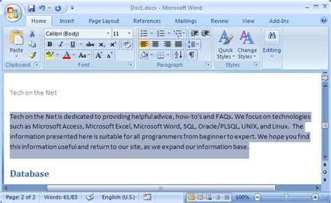 ms word  remove  indent  text