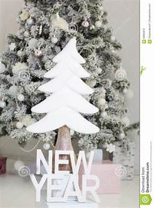 new year letters near christmas tree stock photo image With wooden letters for christmas tree