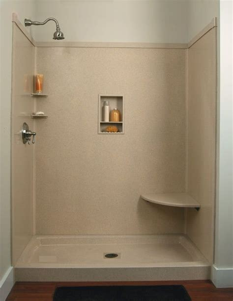Shower Walls And Base by Shower Wall Panels Faux Granite Or Marble Standard Size