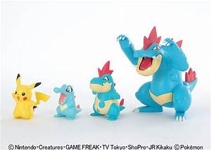 Pokemon Plastic Model Kit Totodile Croconaw Feraligatr