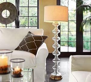 jasmine glass floor lamp base pottery barn With pottery barn floor lamp glass