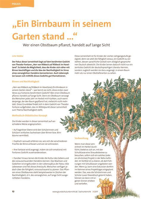 """""""ein Birnbaum In Seinem Garten Stand …""""  Oldenbourg Klick"""