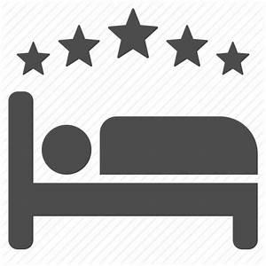 Bed, five star, hotel, motel, sleep, sleeping, stars icon ...