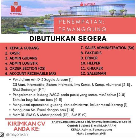 Obs group indonesia on facebook. Lowongan Kerja PT Cipta Niaga Semesta (Mayora Group) - 12 Posisi